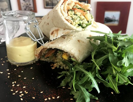 idée garniture wraps vegans